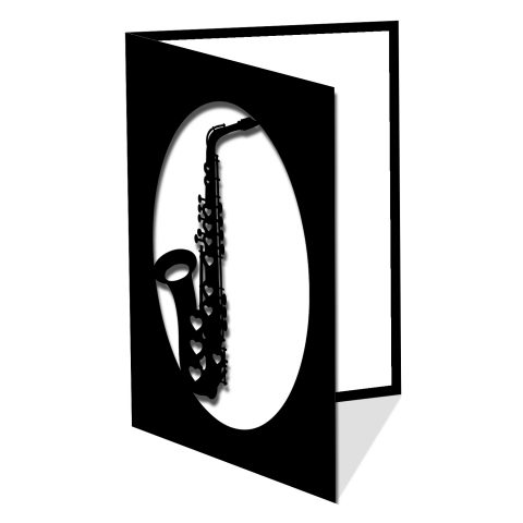 Saxophone and hearts