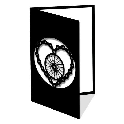 Chaîne de bicycle en coeur