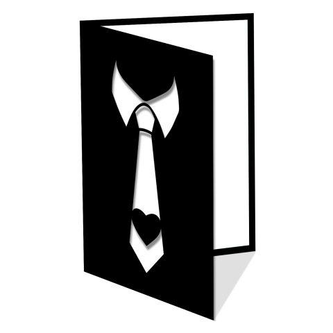 Cravate et coeur