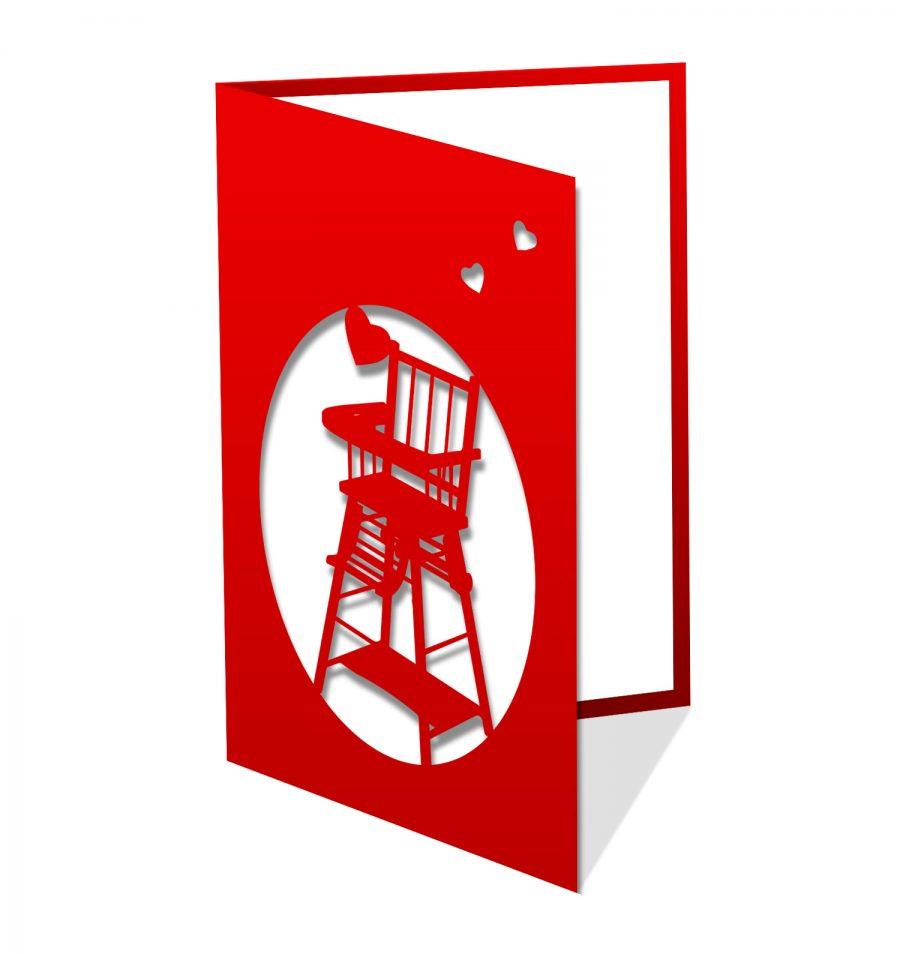 Chaise haute rouge
