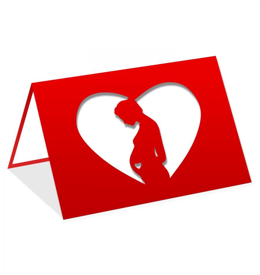 Femme enceinte coeur