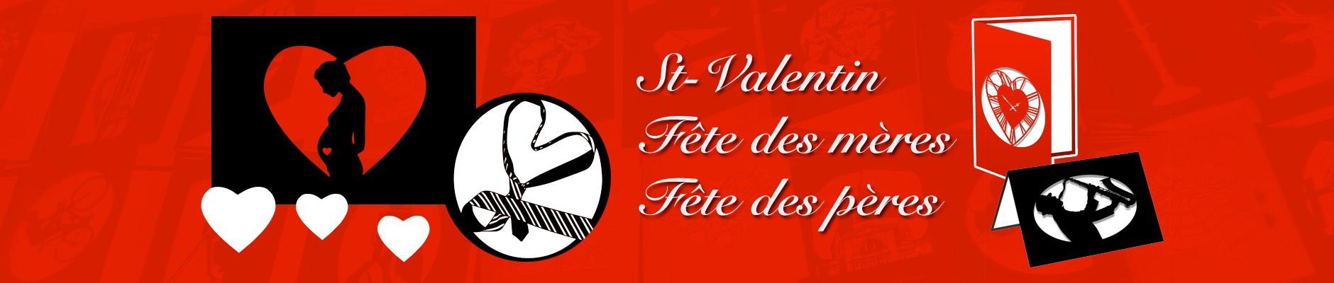 Cartes de voeux de la St Valentin