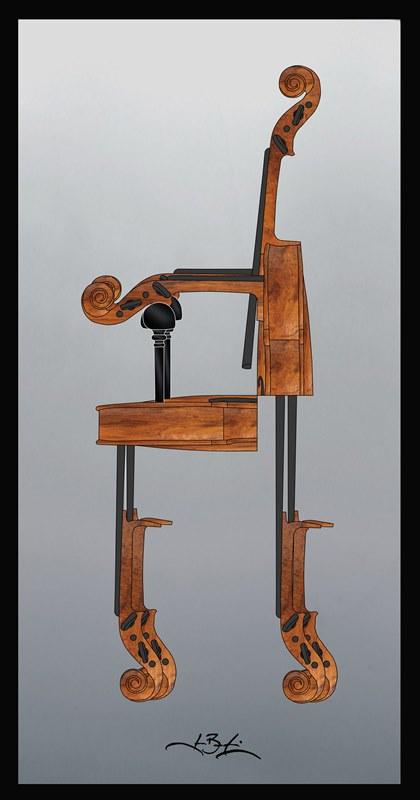 32-016 / Chaise violon 24 x 12