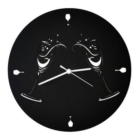 Coupes noires horloge