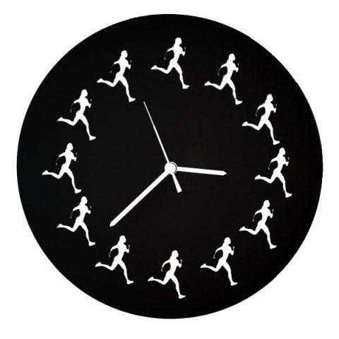 Coureuses horloge (noir)