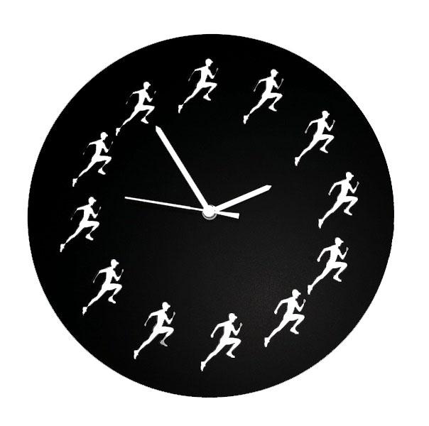 Coureurs horloge (noir)