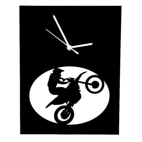 Moto cross noir horloge