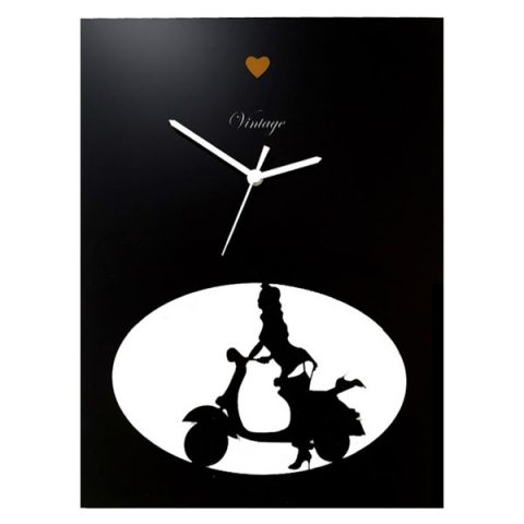 Horloge Vespa et talons (noir)